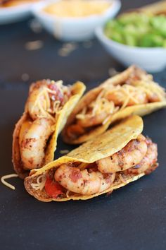 Cajun Shrimp Tacos with homemade Hard Taco Shell's - Half Baked Harvest