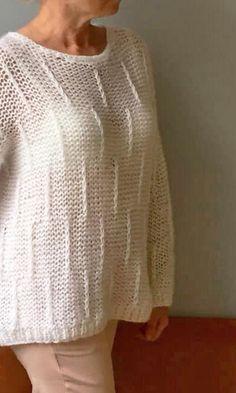 755f6c8285 Knit sweater by JPalKnits, Women loose sweater, Wool knit pullover,  Oversized white sweater, Chunky knit pullover #white_sweater #wool_sweater  ...