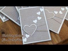Tutorial - Hochzeitseinladungen selber basteln - Herzen