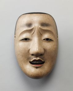 Important Cultural Property of Japan - Noh mask, Chūjō (an aristocrat military-commander) , Edo period (17~19th century) 能面 中将 重要文化財