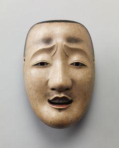Important Cultural Property of Japan - Noh mask, Chūjō (an aristocrat military-commander) , Edo period (17~19th century) 能面 中将 重要文化財