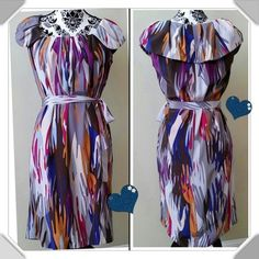 BGN💐💐Silk shift dress🌷🌷🌾⤵️⤵️$$ Girly girl party 6/5 🎉🎉🎉Host💄💄Pick🎉🎉🎉Beautiful🌹 pristine  shift dress... 🌷🌷 Bought from another posher and too big😞 has been dry cleaned and ready to wear....feminine and beautiful colors. 100% silk with silk tie around.  37.5 length🌷 BGN Dresses