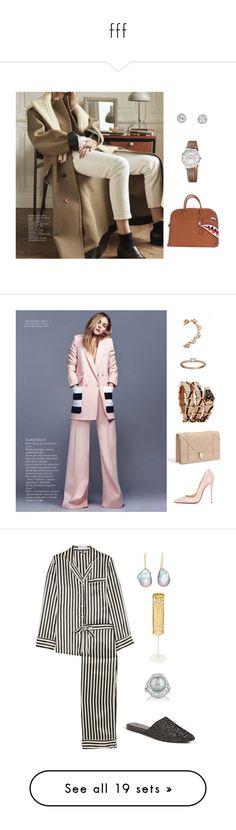 """fff"" by yeahstella ❤ liked on Polyvore featuring Hermès, Christian Louboutin, Christian Dior, Bulgari, men's fashion, menswear, beauty, Olivia von Halle, Samira 13 and Zoe"