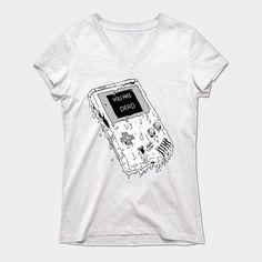 Deadboy (original Nintendo Gameboy) Womens V-Neck T-Shirt
