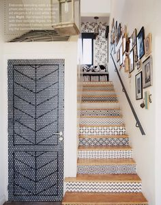 Love the tiled stairs