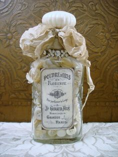 Altered vintage bottle