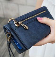 alça pulseira titular moda dia multifuncional bolsa da moeda da embreagem cartão de telefone móvel mulheres feminino bolsa carteira portefeuille 19.99