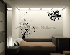 Vintage Floral Vines Wall Decals – WallDecalMall.com Cheap Wall Art, Vine Wall, Flower Wall Stickers, Mural Wall Art, Floral Wall, Art Decor, Home Decor, Vintage Floral, Wall Design