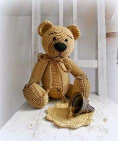 Crochet Toys, Teddy Bear, Animals, Animales, Crocheted Toys, Animaux, Teddybear, Animais, Animal