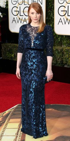 2016 Golden Globes Red Carpet Arrivals - Bryce Dallas Howard in Jenny Packham
