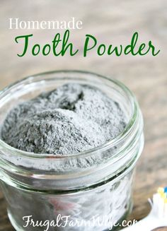 Homemade Tooth Powder. This is super easy to make - no need to find tubes for homemade tooth paste!