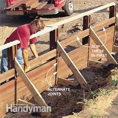 How to Build a Treated-Wood Retaining Wall | The Family Handyman