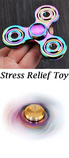 Stress Relief Toy Colorful Finger Gyro