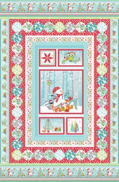 """Check out our FREE """"Frosty Forest"""" quilt pattern using the collection, """"Frosty Forest"""" by Cherry Guidry for Benartex. Designed by Cherry Guidry. Finished quilt size: 57"""" x 84""""."""