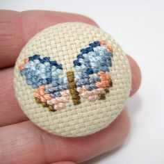 Thrilling Designing Your Own Cross Stitch Embroidery Patterns Ideas. Exhilarating Designing Your Own Cross Stitch Embroidery Patterns Ideas. Tiny Cross Stitch, Butterfly Cross Stitch, Cross Stitch Needles, Beaded Cross Stitch, Crochet Cross, Filet Crochet, Cross Stitch Designs, Cross Stitch Embroidery, Embroidery Patterns