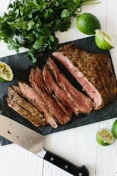 The best carne asada with authentic Mexican flavor. Perfect for Cinco de Mayo! Grilled Steak Recipes, Grilling Recipes, Paleo Recipes, Mexican Food Recipes, Real Food Recipes, Cooking Recipes, Mexican Dishes, Healthy Cooking, Steaks