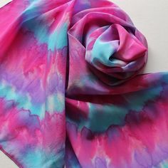 Silk Scarf  Berry  Hand Painted Ladies Scarves by Palettepassion, $35.00