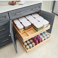 KraftMaid Roll-Out Tray Organizer without Canisters (RCDK) #dreamKitchen