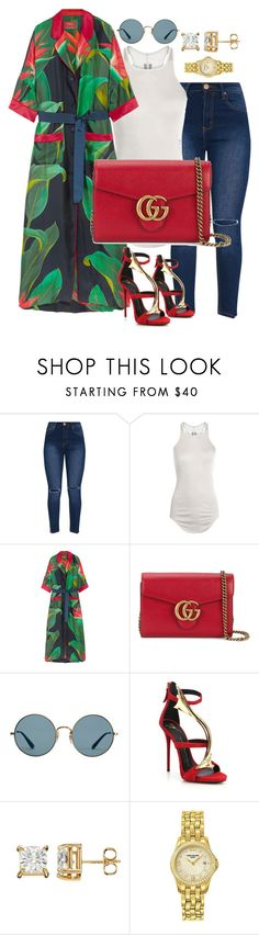 """""""Untitled #170"""" by styledbytammy on Polyvore featuring Rick Owens, F.R.S For Restless Sleepers, Gucci, Ray-Ban, Giuseppe Zanotti and Patek Philippe"""