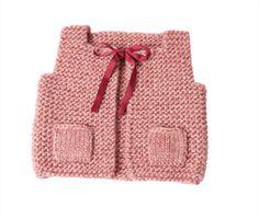 Babies Knitting Patterns Baby Vest Knitting Pattern