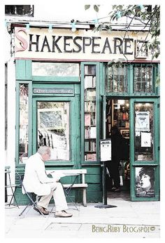Shakespeare & Co. Bookstore ~ Paris  @Teresa Selberg Berryessa - books + Shakespeare + Paris = your paradise. :)