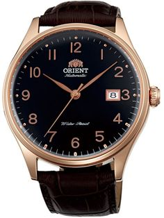 Orient Duke Automatic Watch with Black Dial, Sapphire Crystal, Rose Goldtone Case #ER2J001B