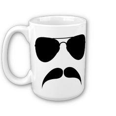 Mustache Aviator Mug from Zazzle.com #zazzle #mustache