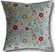 Clarke And Clarke Fabric, Floral Cushions, Retro Floral, Cushion Covers, Throw Pillows, Check, Pink, Ebay, Cushions
