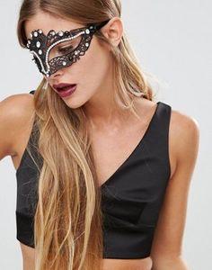 Love Rocks Halloween Jewelled Mask