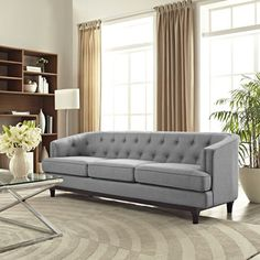 Shop for Modway Mid Century Modern Tufted Coast Sofa. Get free shipping at Overstock.com - Your Online Furniture Outlet Store! Get 5% in rewards with Club O!