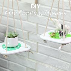 Learn how to make mini floating shelves with this home decor video DIY tutorial.