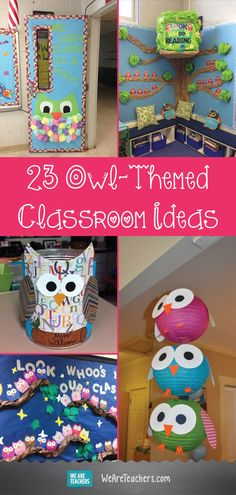 Looking at theming you classroom this year? Here are 23 Owl-Themed Classroom Ideas That Your Students Will Think Are a Hoot! Preschool Classroom Themes, Fall Classroom Decorations, Preschool Classroom Decor, Owl Theme Classroom, Kindergarten Classroom, Classroom Door, Themes For Classrooms, Infant Classroom Ideas, Owl Decorations