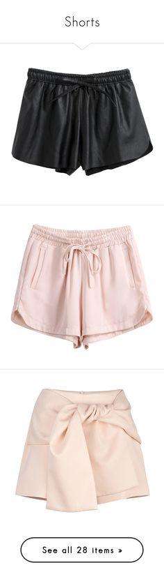 """Shorts"" by andreiasilva07 ❤ liked on Polyvore featuring shorts, bottoms, short, chicnova, lace up shorts, elastic shorts, stretch waist shorts, mid rise shorts, elastic waistband shorts and pants"