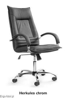 Fotel biurowy Herkules Chrom - skóra