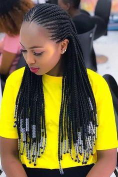 African Hair Braiding Styles For Any Season African Feed In Braids with Weave Styles African Braids Styles, African Braids Hairstyles, Braid Styles, Braided Hairstyles, Weave Styles, Hairstyles 2018, Hairstyles Videos, Wig Styles, African Hair Braiding