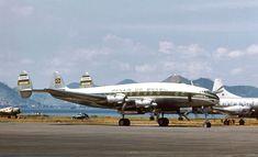 """https://flic.kr/p/dfMUbQ   Lockheed L.049-46-26 Constellation - PP-PDG   Panair do Brasil. Lockheed L.049-46-26 Constellation, registro PP-PDG (cn 2037). Aeroporto Santos Dumont (SDU).  Registro fotográfico garimpado na rede, informações adicionais serão bem vindas.  Sobre a aeronave:  Construído em 1946, foi equipado com quatro motores Wright Cyclone R-3550 (745C188A3).  Adquirido pela PAN AM (Pan American Airways), em 12 de janeiro de 1946, foi matriculado N88837, batizado """"Clipper Ch..."""
