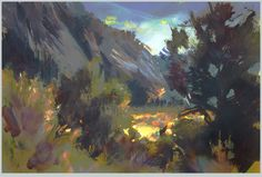 Nathan Fowkes Land Sketch: Utah Storm