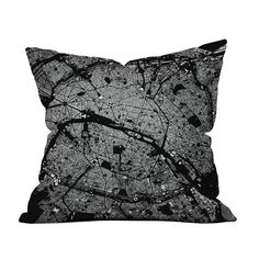 Francophiles, make some room on your couches. This artfully designed, architect-chic pillow gives you a bird's-eye view of Paris' sprawling city streets. Use its dense pattern to add texture to a neutr...  Find the Paris Plans Pillow in Black, as seen in the Industrial Impressions Collection at http://dotandbo.com/collections/industrial-impressions?utm_source=pinterest&utm_medium=organic&db_sku=110257