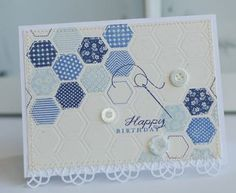 Quilted Birthday Card by Betsy Veldman for Papertrey Ink (June 2012)