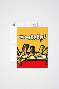 Art prints, post cards and greeting cards inspired by the city of Montreal! Of Montreal, Stationery, Greeting Cards, Poutine, Art Prints, Post Card, Inspiration, Stationeries, Stationery Shop