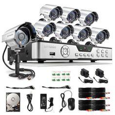 Zmodo 8 Channel 960H HDMI DVR 700TVL IR Outdoor Security Camera System 1TB HDD #Zmodo