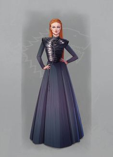 There was a sneak-peak of Sansa Stark's season 8 outfit and I couldn't resist drawing it Little Bird Casa Stark, House Stark, Vanity Fair Italia, Game Of Thones, Game Of Thrones Art, Disney Images, Iron Throne, Sansa, Daenerys