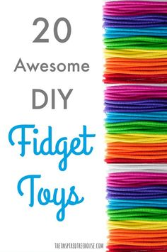 20 Awesome DIY Fidget Toys - The Inspired Treehouse - - DIY fidget toys,perfect way to support kids in the classroom -Velcro under the desk or table to run fingers over -Large key ring with pony beads looped on Homemade Fidget Toys, Diy Fidget Toys, Diy Toys, Fidget Toys Classroom, Fidget Toys For Anxiety, Autism Crafts, Classroom Desk, Diy Sensory Toys, Makeup Tips