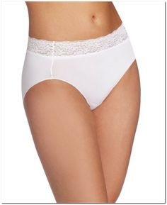 Bali One Smooth U No Lines; No Slip Hipster w/ Lace Waistband Women's Shapewear, Second Skin, Bali, Bodysuit, Hipster, Smooth, Clothes, Shopping, Fashion