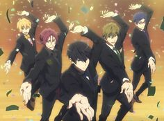 I wanna join this dance. Rin Matsuoka, Makoto Tachibana, Hot Anime Boy, Anime Guys, Anime Demon, Manga Anime, Otaku, Swimming Anime, Splash Free