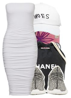 """""""Like D rose we play no games..."""" by shilohluvsu ❤ liked on Polyvore featuring Chanel, October's Very Own and adidas Originals"""
