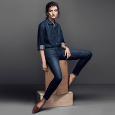 Andreea Diaconu is Front & Center for FRAME Denims Fall 2014 Campaign