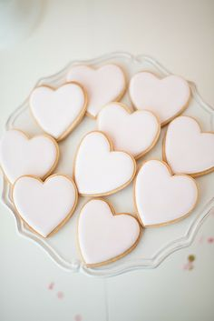 Pastel Pink Heart Cookies // Photo by Christie Graham Photography