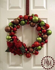 The Scrap Shoppe: Ornament Wreath & 2010 Christmas Decor