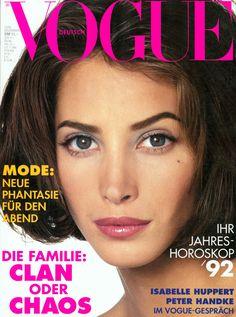Christy Turlington Vogue Deutsch December 1991